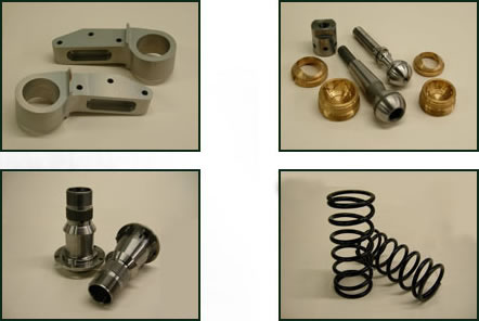A range of suspension components.